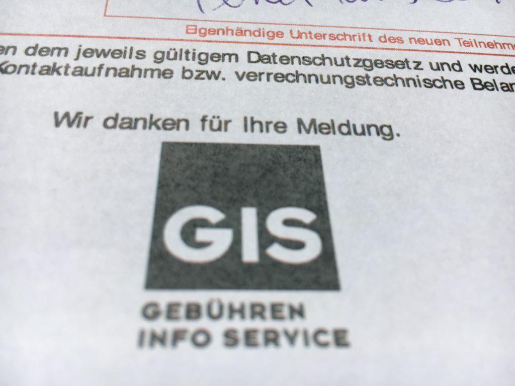 Anmeldeformular GIS
